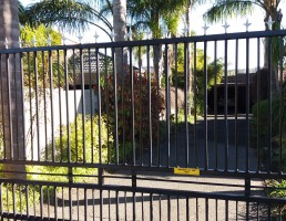 Motorised Palisade Sliding Gate
